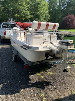 14ft deck boat with gas conversion for Sale in Millington, MD