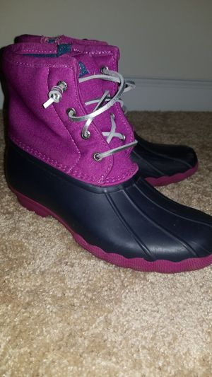 Girl Sperry Rain Boots 4M for Sale in Piedmont, SC