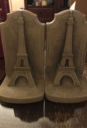 Eiffel Tower Bookends, Ceramic for Sale in Los Angeles, CA