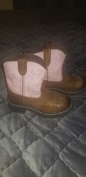 Girls Justin light up boots size 1d for Sale in Humble, TX