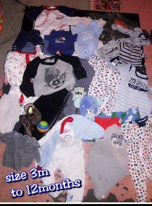 3month sz baby boy clothing lot for Sale in Tulsa, OK