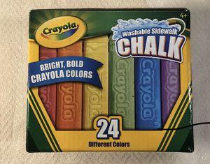 New Crayola Sidewalk Chalk 24 count for Sale in Windham, ME