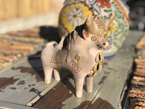 Mexican Art/Toro Candle holder for Sale in Los Angeles, CA