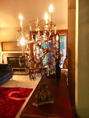 Antique Italian crystal candelabra lamp for Sale in Mill Creek, WA
