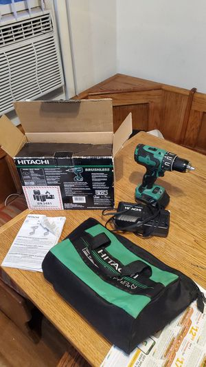 Hitachi DV18DBFL2S 18 V Brushless hammer drill is bringing power and torque to a whole new level. This tool features a Brushless motor for Sale in Placentia, CA
