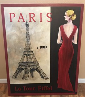 Paris Painting on Canvas for Sale in Lakeside, AZ