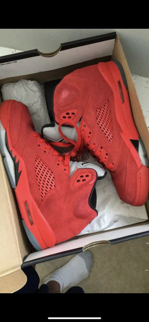"""Air Jordan Retro 5 GS """"Red Suede"""" for Sale in Silver Spring, MD"""