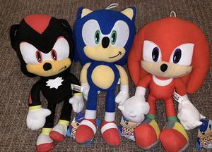 Sonic the hedgehog plush character set of 3 for Sale in Corona, CA