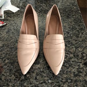 Trendy Taupe Patent Leather Point Block Heel Shoe for Sale in Libertyville, IL