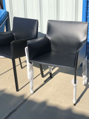 Brand new matching set of leather arm chairs. Retails for over $400 for Sale in Fowler, CA