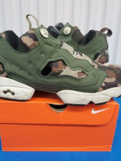 """Reebok InstaPump Fury OG Camouflage Men's Size 9 No Box GC SUPER COMFORTABLE. Condition is """"Pre-owned"""". Shipped with CARE FAST! OUR PROMISE TO YOU: for Sale in Lynnwood,  WA"""