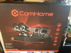 Brand New CamHome AHD 8-Channel 1080p 2.0MP Wired DVR Security System [Four 2.0 Megapixel Night Vision Cameras, 2TB Hard Drive, Smartphone App, DVR S for Sale in Pickerington, OH