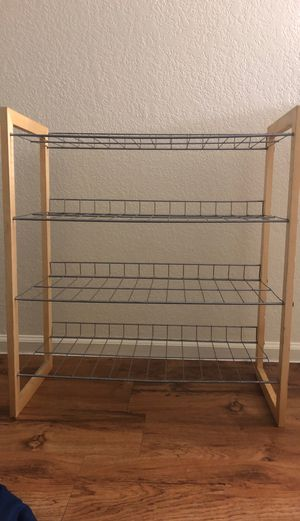 Shoe stand- 4 rack - wooden frame for Sale in Chandler, AZ