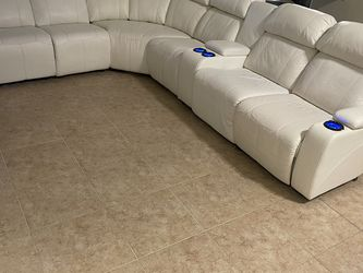 Living Room - White -3 Reclining And USB Charger!almost New for Sale in Cape Coral,  FL