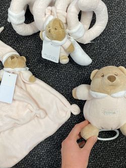 Nanan Baby Girl Newborn Gift Stroller Toy Plush Rattle Teddy Bear And Lullaby for Sale in Pompano Beach,  FL