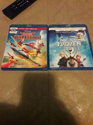 2 Kids Blu Rays. Planes Fire & Rescue also Frozen for Sale in Kingwood, TX