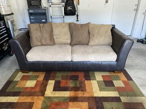 FREE DELIVERY!!! Tan Leather Sofa for Sale in Las Vegas, NV
