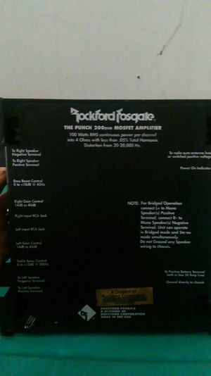 Rockford Fosgate for Sale in Crewe, VA