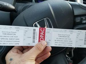 Toni Braxton tickets 2 tickets for Sale in Durham, NC