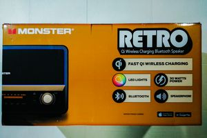 Monster Retro wireless charging Bluetooth speaker for Sale in Wilmington, NC