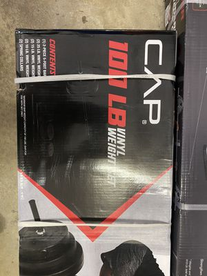 100lb Vinyl weight set with Bar New for Sale in Raleigh, NC