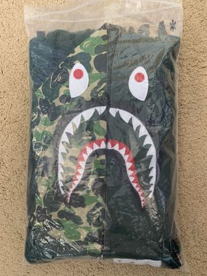 Bape ABC Camo Shark Hoodie Olive Size Large for Sale in San Diego, CA