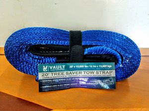 """Recovery Tow Strap by Vault Cargo 3"""" x 20 Heavy Duty 30,000 Lbs Capacity Towing Straps with End Loops for Off Road Vehicle - Truck, Jeep, or SUV for Sale in Revere, MA"""