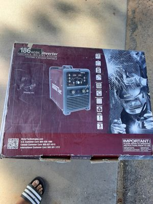 Welder Brand new Thermal Arc 186 AC/DC tig welder 200 amps which all the bells and whistles for Sale in Riverside, CA