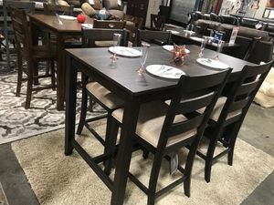 5 PC Counter Height Dining Set, Brown for Sale in Fountain Valley, CA