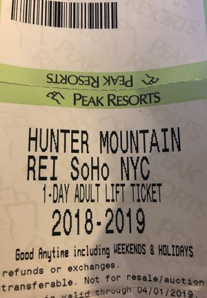 Hunter Mountain Lift Tickets - Two 1-day Adult Tickets for Sale in New York, NY