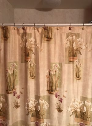 Bathroom shower curtain towels paintings for Sale in Orland Park, IL