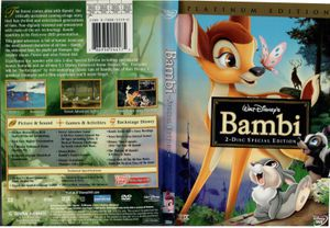 Walt Disney Bambi 2 Disk Special Edition DVD Movie for Sale in Bloomington, CA