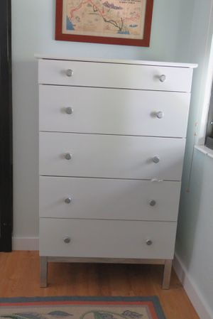 2! Tall White Wood Slim Dressers for Sale in Miami, FL