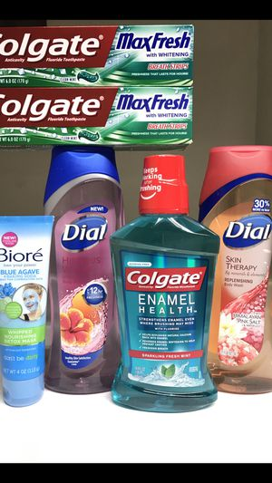 DIAL BODY WASHES COLGATE MOUTHWASH TOOTHPASTE BIORE BUNDLE for Sale in Redondo Beach, CA