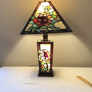 Vintage Tiffany Style Stained Glass Lit Base And Top for Sale in Jacksonville, FL