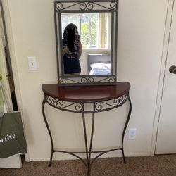 Half Moon Console Table With Mirror for Sale in San Diego,  CA