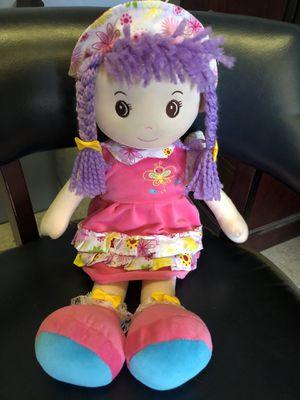 Plush Stuffed Little Girl Doll for Sale in Preston, CT