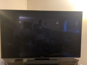 Large Panasonic 1080p HD plasma Tv with entertainment center for Sale in Medford, MA