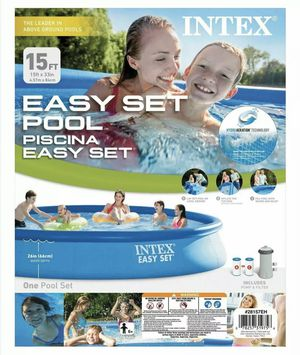 "Intex 15'x33"" Easy Set Pool for Sale in Durham, NC"