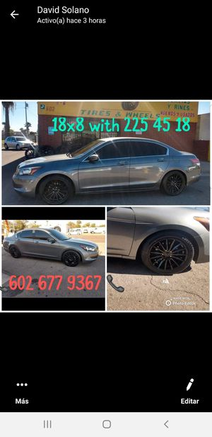 Honda accord rims and tires for Sale in Phoenix, AZ