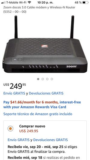 Modem router zoom for Sale in Los Angeles, CA