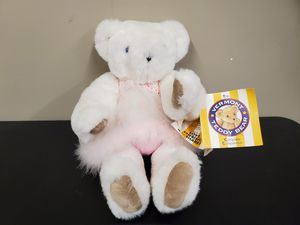 Vermont Teddy Bear Company White Bear with Blue eyes for Sale in Dearborn, MI
