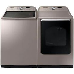 SAMSUNG 7.4-cu ft Reversible Side Swing Door Steam Cycle Gas Dryer (Champagne) ENERGY STAR for Sale in Tulalip,  WA