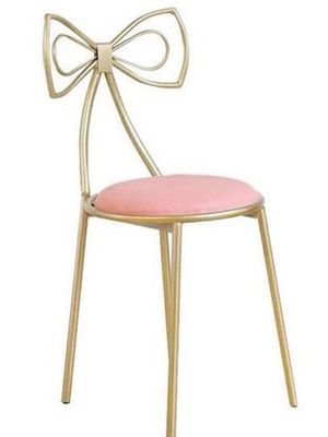 Couture Pink Vanity Chair with Bow Back for Sale in Washington, DC