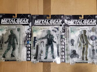 Rare 'Clear' Edition 1998 McFarlane Toys Metal Gear Solid Figures SNAKE, NINJA, MANTIS for Sale in Clifton,  VA