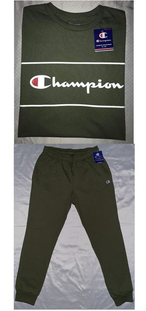 1XL CHAMPION TEE & MATCHING SWEATPANTS. MAKE A OFFER for Sale in Dallas, TX