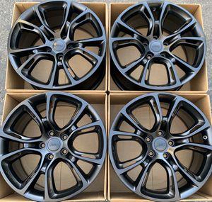 "20"" Jeep Grand Cherokee SRT factory wheels rims satin black for Sale in Santa Ana, CA"