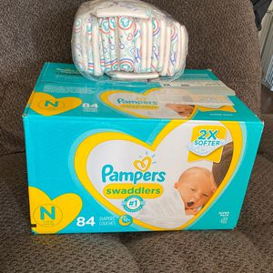 Unopened Box Of Newborn Pampers & Some Honest Newborn Diapers for Sale in Carson, CA