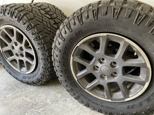 Jeep wheels and tires shoot offer! for Sale in DeSoto, TX