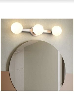 Glass Vanity Lights for Mirror 3 - Lights, Joosenhouse Brushed Nickel Wall Sconce Bath Light in Home Up or Down Bathroom Lighting Fixtures 23.62 Inch for Sale in Houston, TX